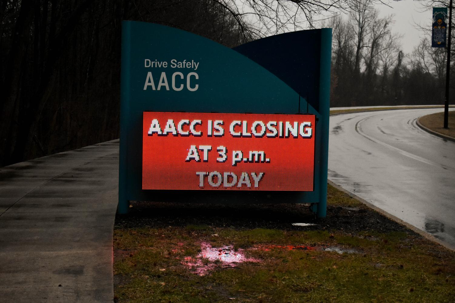 AACC has announced on their website and signage about the closing
