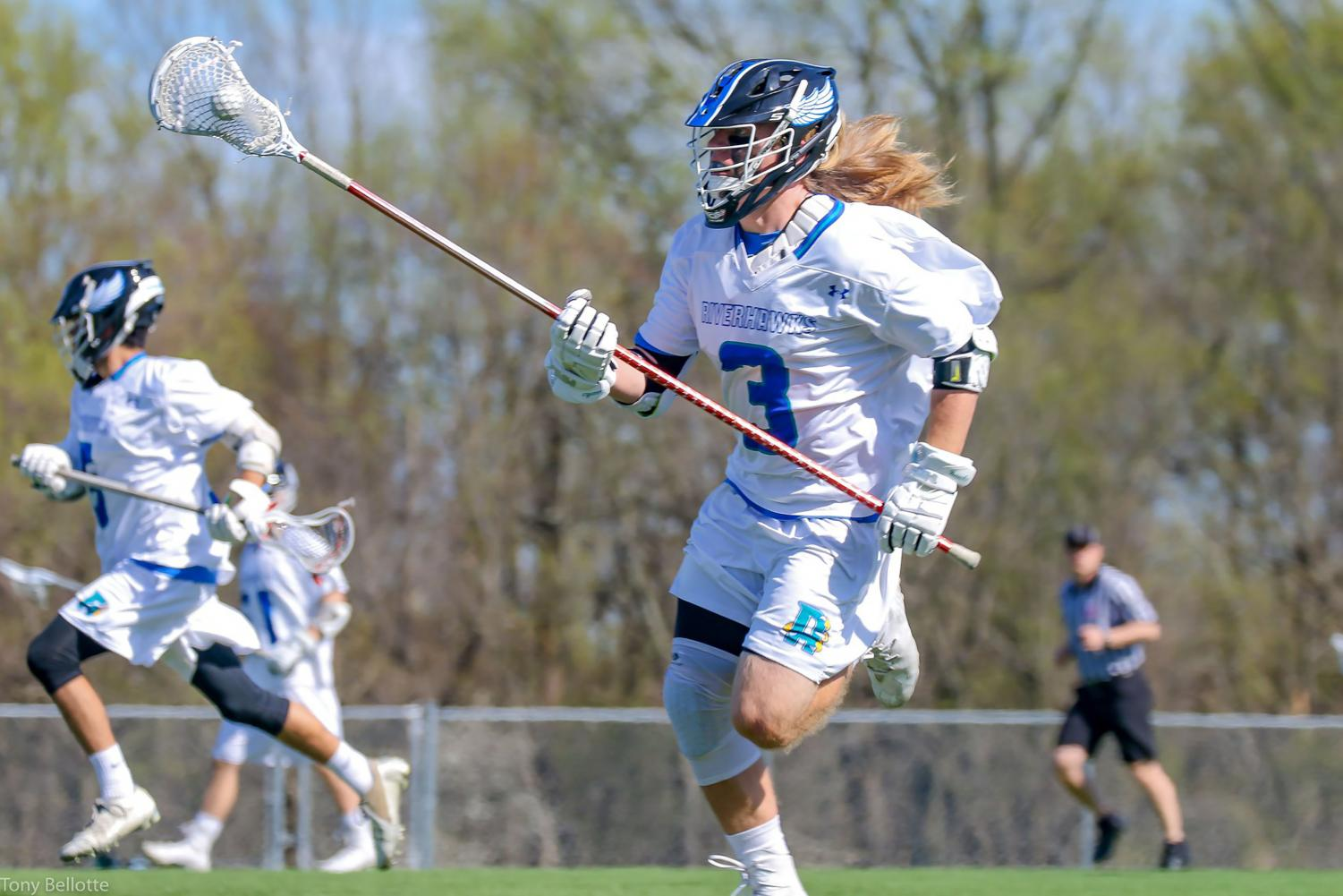 Former AACC Men's Lacrosse defender Justin Walsh says academics are important for recruitment.