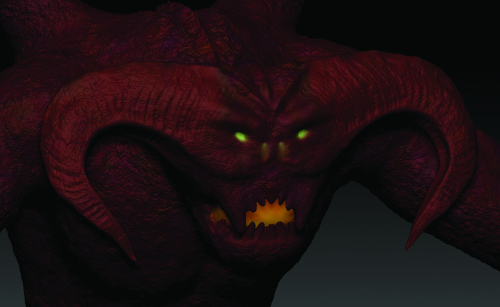 "Rick Williams, Game Dev Club president, created this Balrog, a creature from the ""Lord of the Rings"" series."