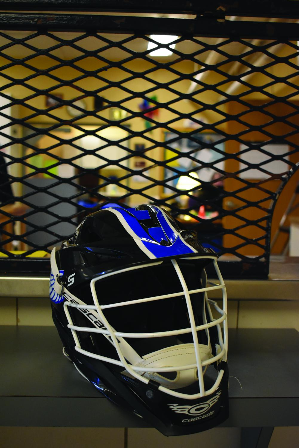 AACC Men's Lacrosse purchases new helmets this season that are safer for players.