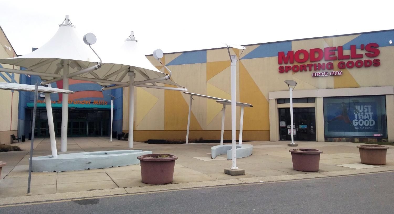 A shooting at Arundel Mills Mall on Saturday occurred at this entrance.