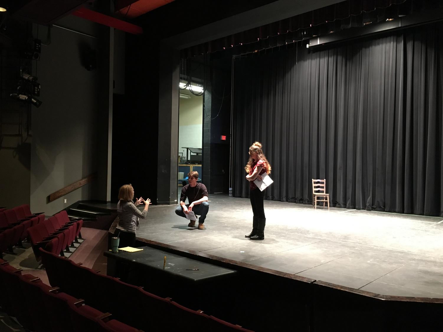 """Romeo and Juliet"" director, Dr. AnnMarie T. Saunders preps for the next student."