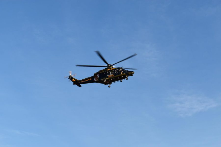 The+medevac+helicopter+took+an+injured+man+to+a+trauma+center.