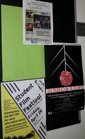 Students can find flyers for the art events around campus on bulletin boards.