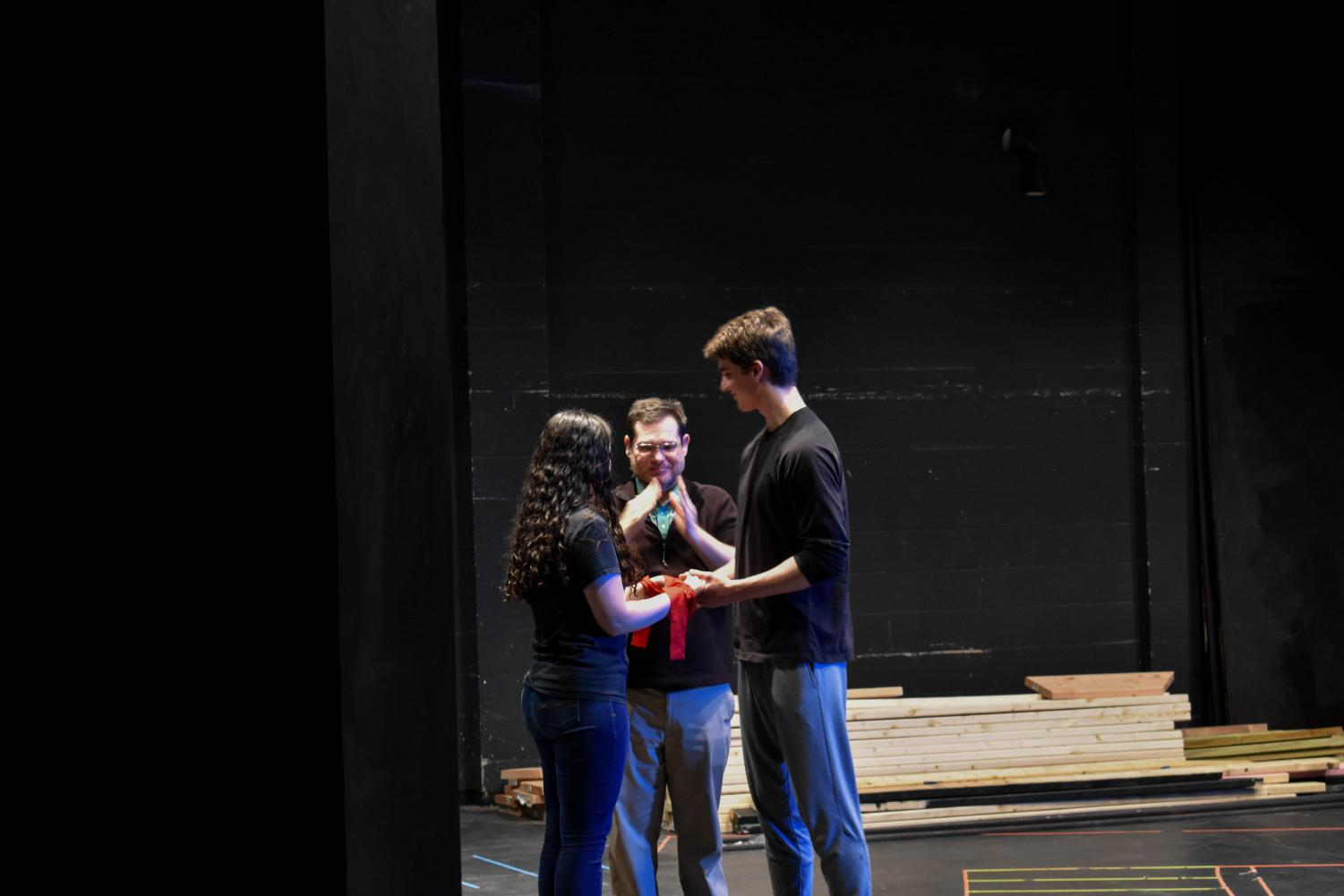 Second-year theater student Katie Laubert and former AACC theater student Jack Ven-ton, who will play Romeo and Juliet in the April production on campus, say they, too, have tragic love stories—sort of.