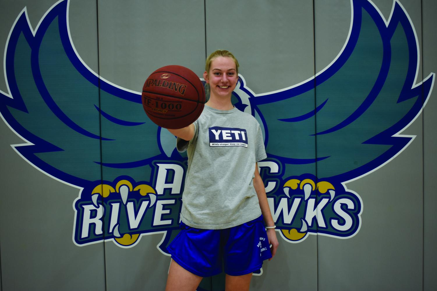 Women's Basketball center Sarah Healy won MVP in the Division III Region Tournament  and earned a 4.0 GPA this season.