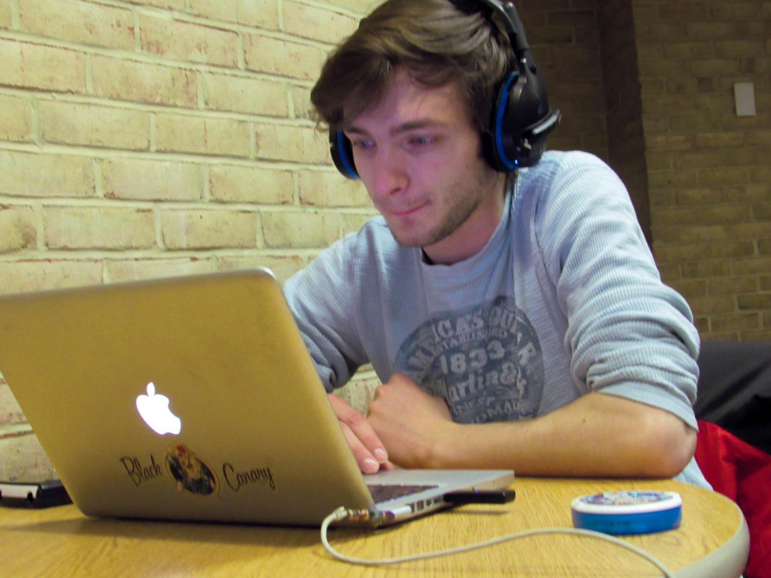 Students, like second-year physics student Kenneth Arnold, participated in a student survey on campus.