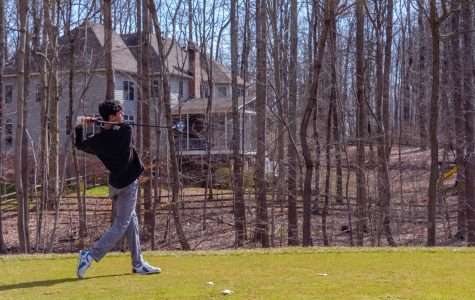Luke Schwartz, a golfer and first-year business administration student, led Riverhawks Golf this season with a fourth-place finish in a match at Hagerstown.