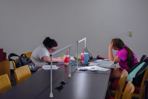 Students study to ease nerves for final exams