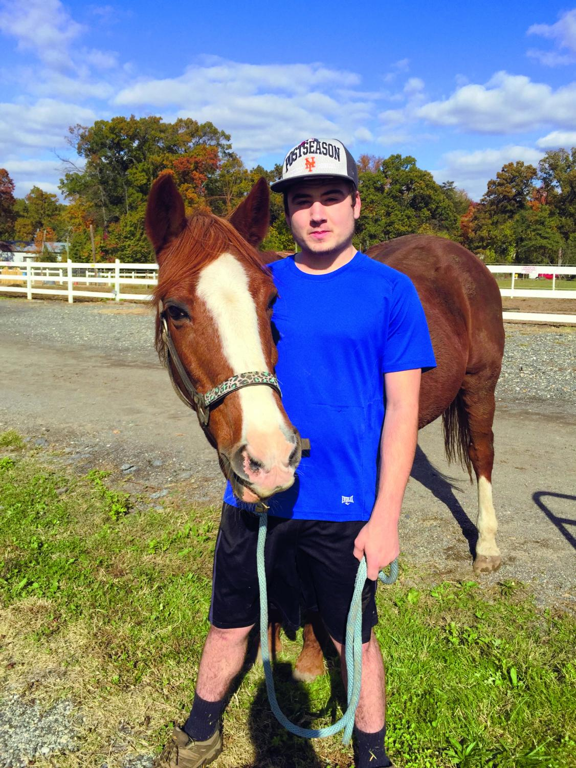 Second-year undecided student Shay Meany used horse therapy to overcome his speech impediment.