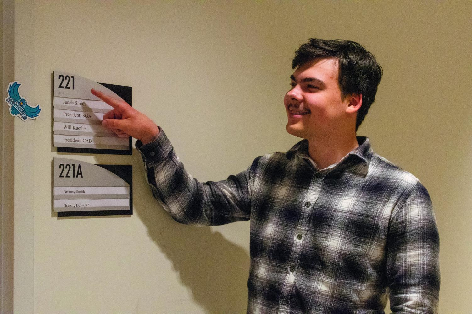 Second-year creative writing student Mitchell Santos will be the new SGA president next fall.