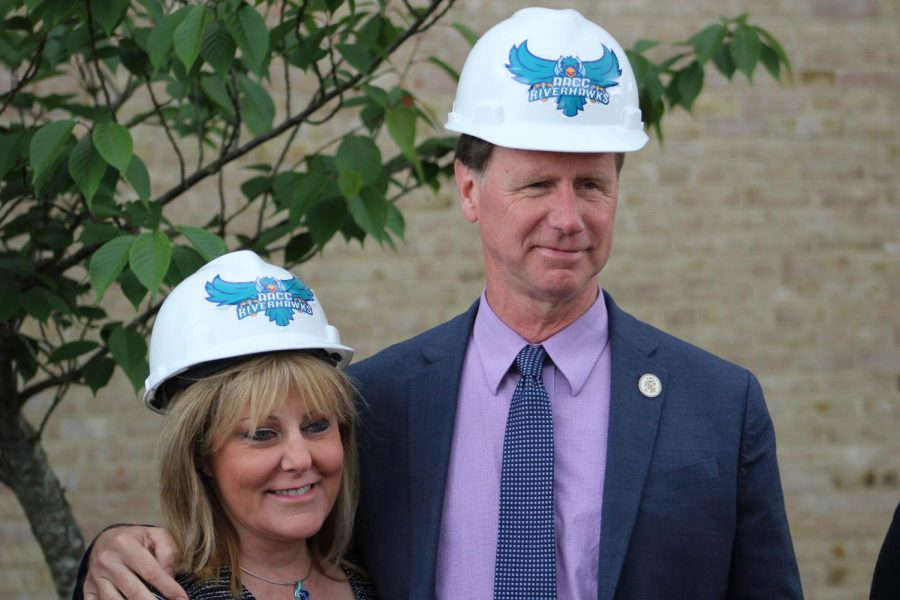 County Executive Steuart Pittman and AACC President Dawn Lindsay said they are excited to join together in the construction of the new Health and Life Sciences Building.