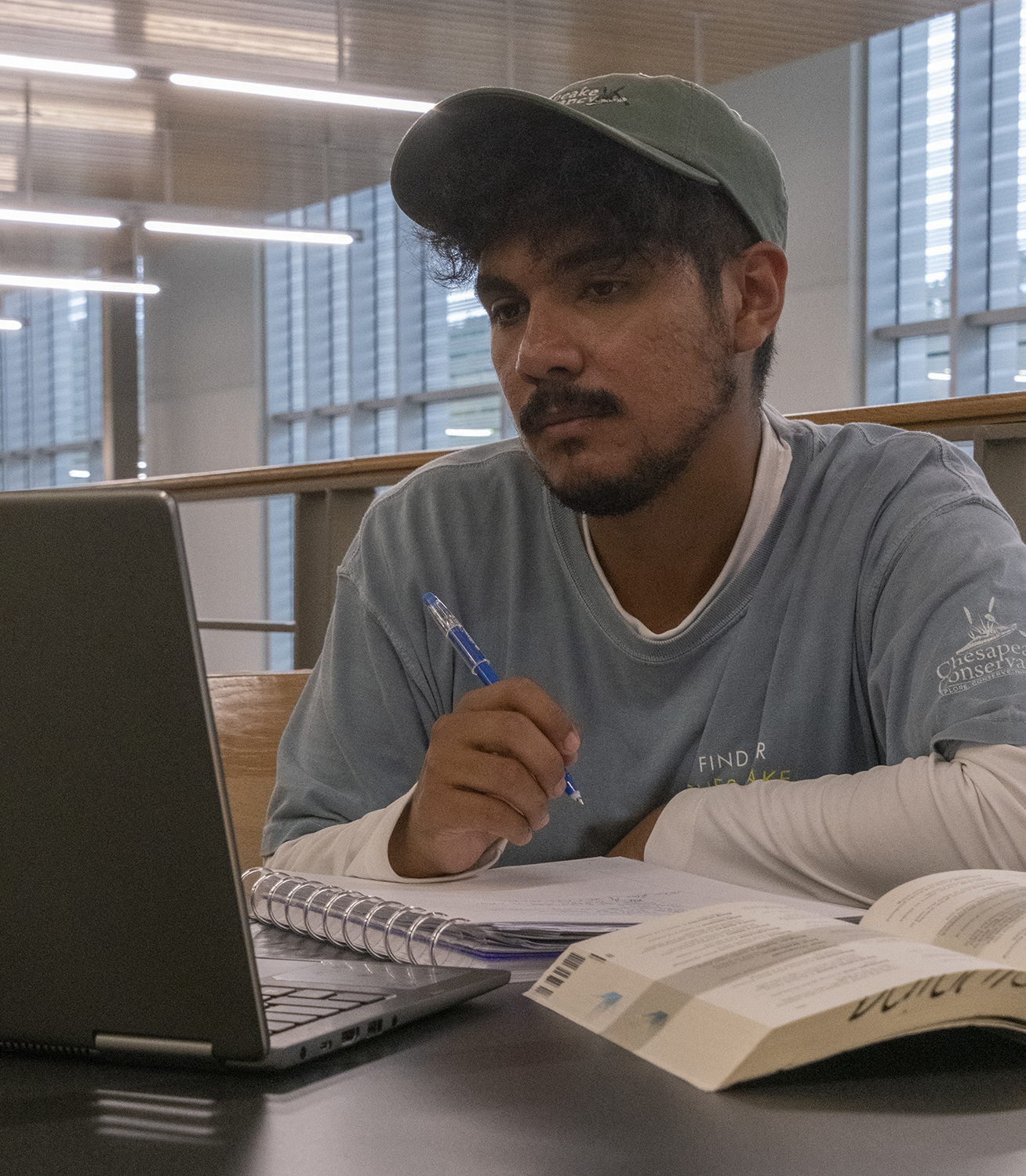 Daniel Salomon, a third-year transfer studies student, says he feels the pressure of becoming the first in his family to go to college.