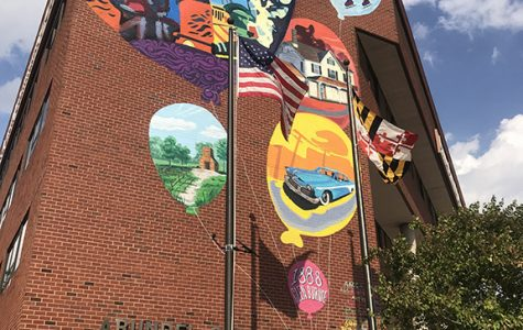 Class paints mural at Glen Burnie campus