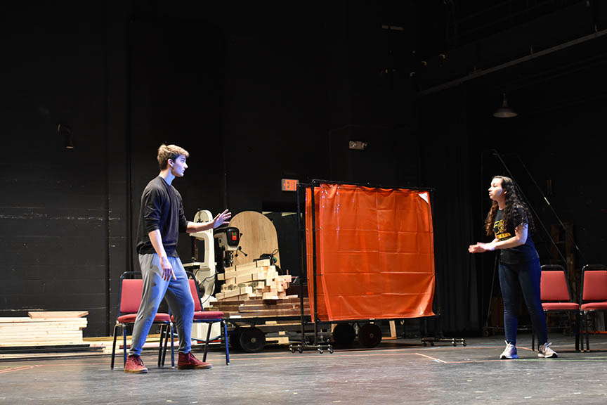 Student actors say audition-day jitters pay off when they  land roles in plays like