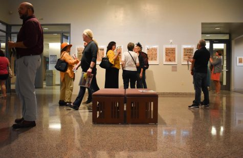 The exhibit featured artwork dating back over 100 years.