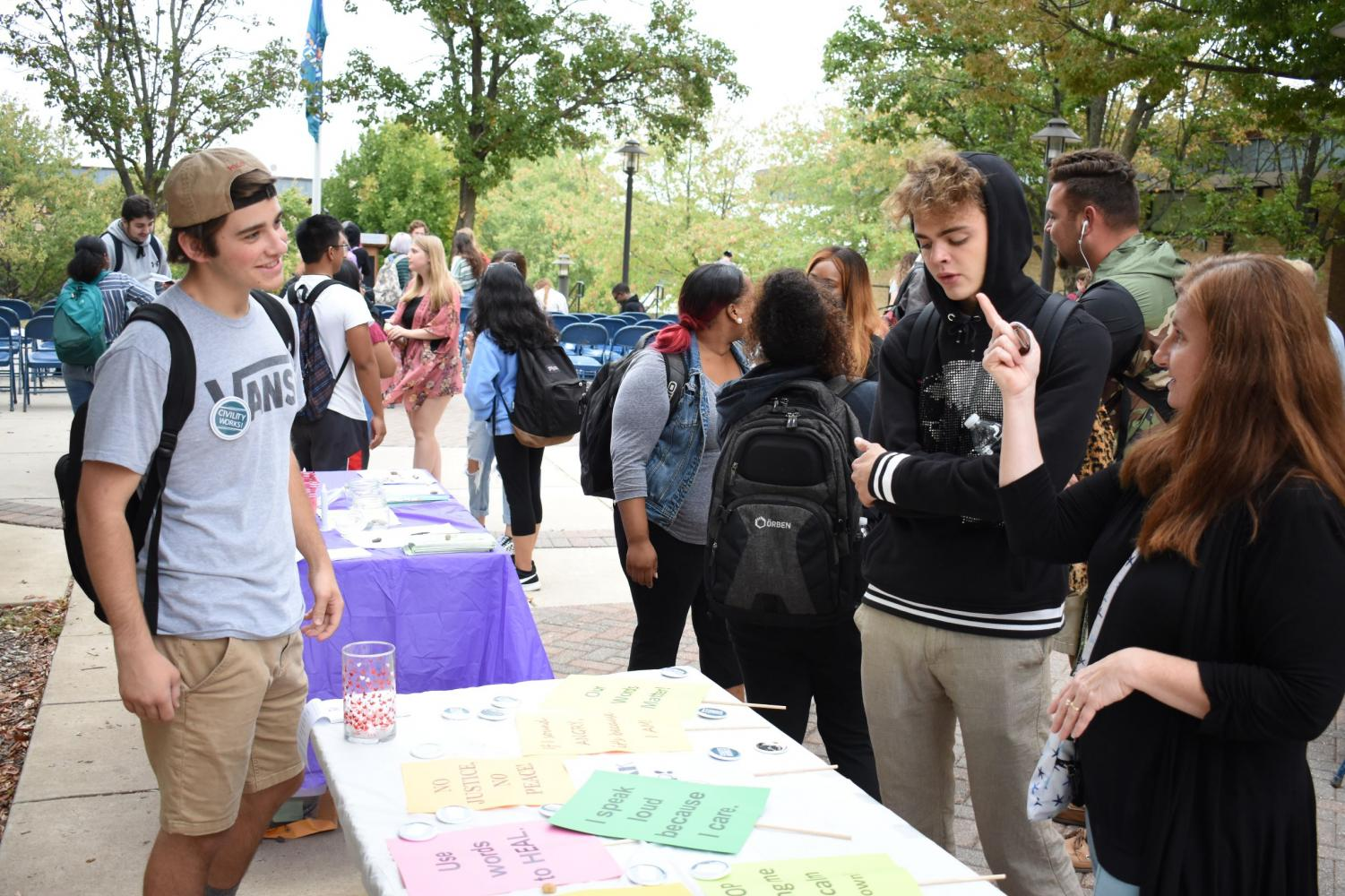 Students engage in one of numerous events at Civility Matters.