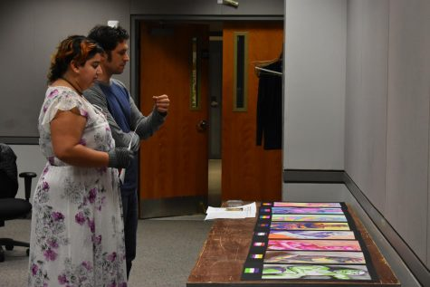 Professors prep students for art show