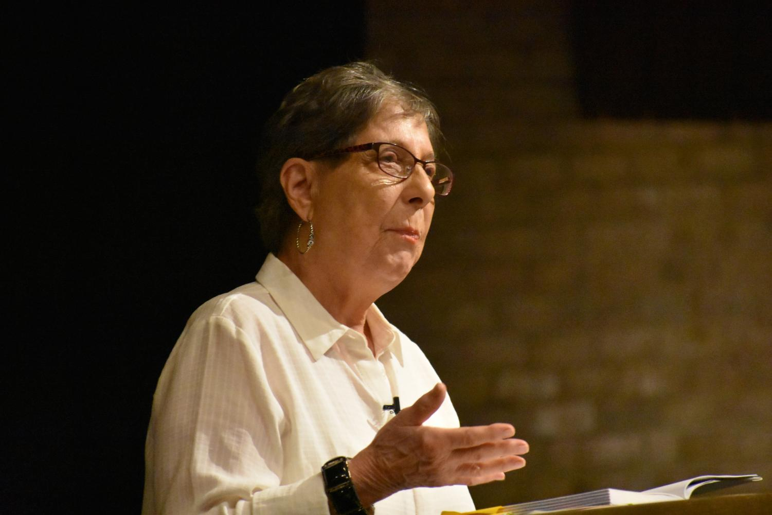Poet Laureate Grace Cavalieri  told students to write daily.