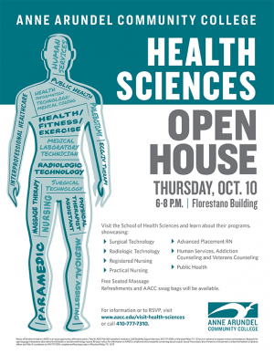 Advertisement for Health Science Open House.