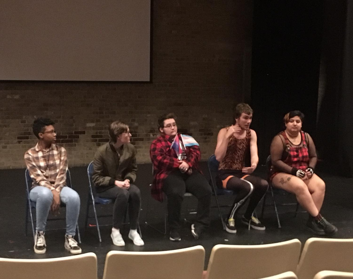 Members of the Gay-Straight Alliance share their coming out stories in a panel discussion.