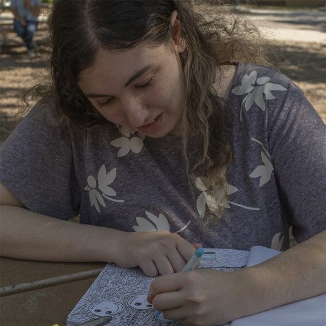 Art student publishes coloring book online