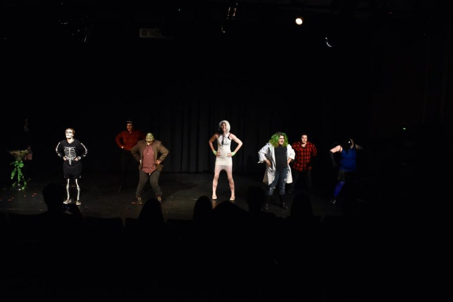 Students perform their final act in a student-led  drag show on Nov. 1.