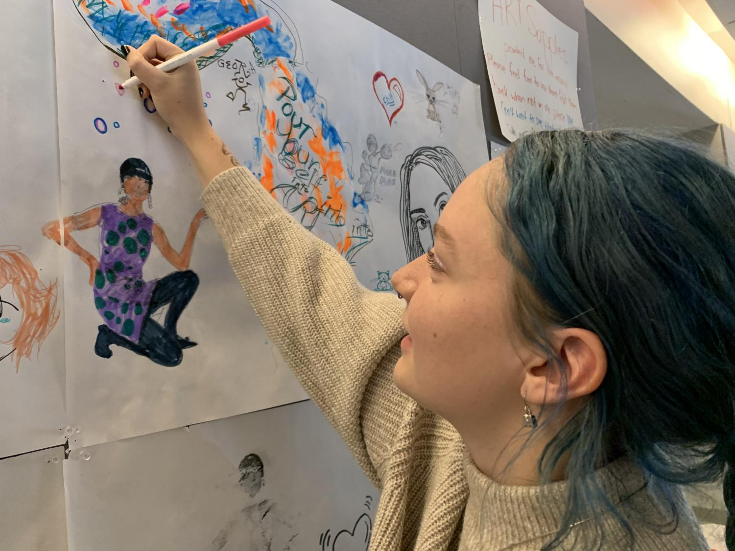 Psychology student Madison Likens is among many artists pursuing degrees in subjects other than art that they believe will land them more stable jobs.