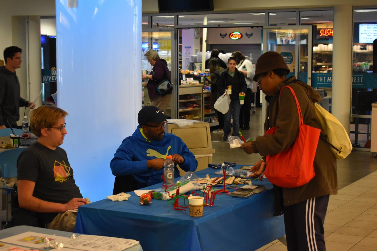 Students celebrate the holiday's at an event with craft stations, hot cocoa, gingerbread house building and more.