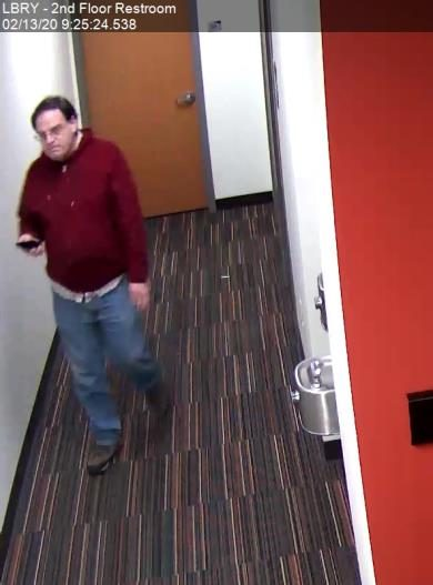 Police say this man committed indecent exposure and trespassing on campus.