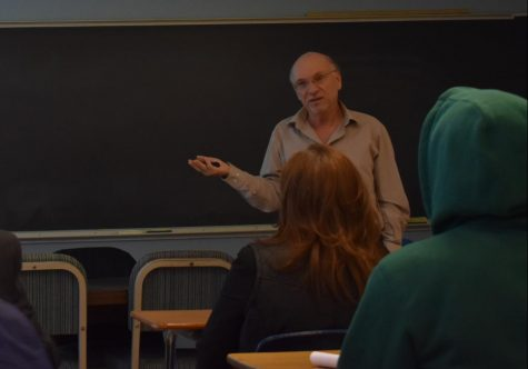 Political science professor Dan Nataf spoke about polling difficulty at the first in a series of seminars put on by the Department of Mathematics.