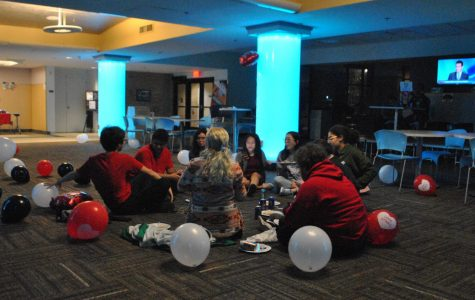 Students attend the first Anti-Valentine's dance, hosted by the Campus Activities Board.