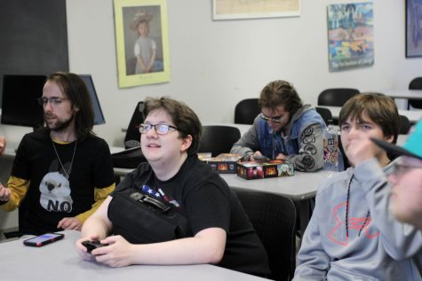 Members of the ESports Club attend a weekly meeting.