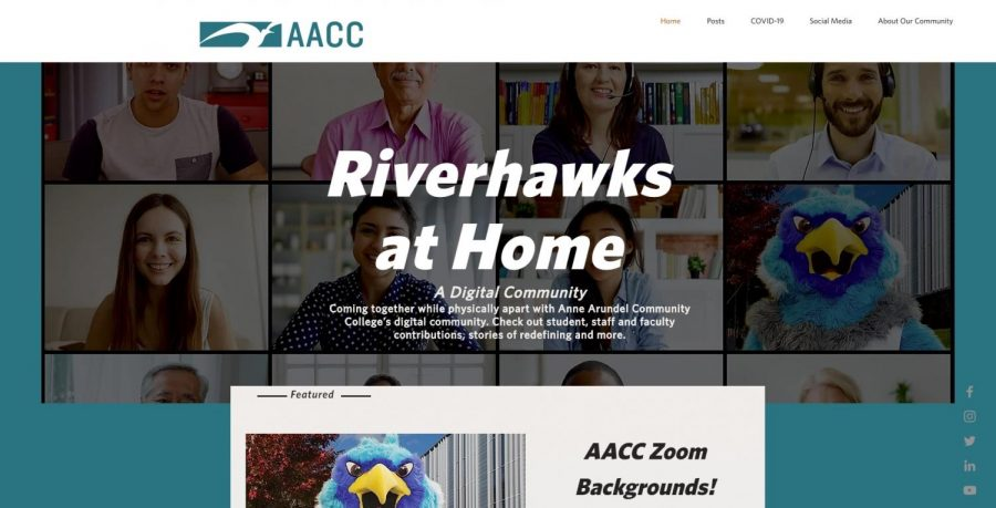 AACC launched the Riverhawks at Home website to create a community among students, staff and faculty while the college is closed due to COVID-19.