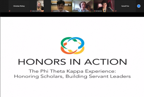 Phi Theta Kappa held their induction ceremony for new members through Zoom.