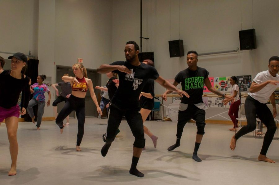 Students in performing arts classes are at greater risk of spreading coronavirus and catching COVID-19. Shown, an AACC Dance Company rehearsal from 2017.