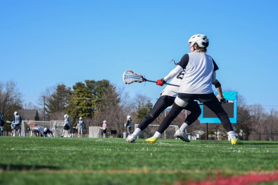 The Women's Lacrosse team will skip its spring season this semester. Shown, student athletes playing in 2018.