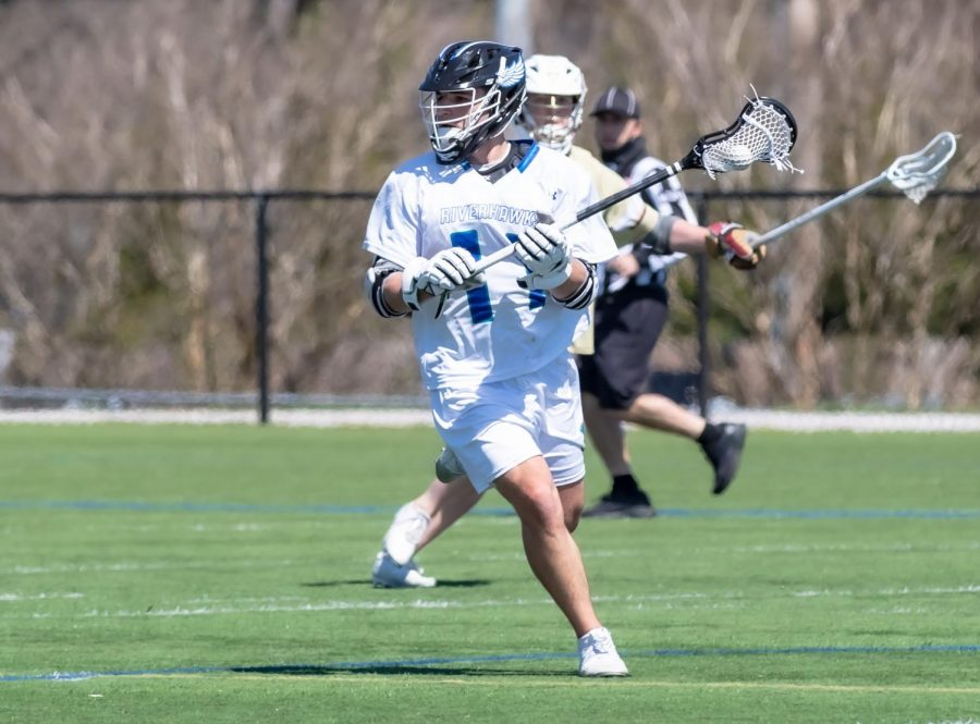 The+men%27s+lacrosse+team+finishes+its+season+with+a+loss+to+CCBC+Essex+after+being+selected+for+an+at-large+berth+to+the+national+championship+tournament.+Pictured%2C+defenseman+Sam+Weisshaar%2C+a+second-year+transfer+studies+student.