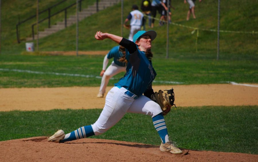 Riverhawks baseball pitcher Skylar Kaplan is the only female baseball player in the National Junior  College Athletic Association. The first-year transfer studies student says she will play for the Riverhawks again next season.