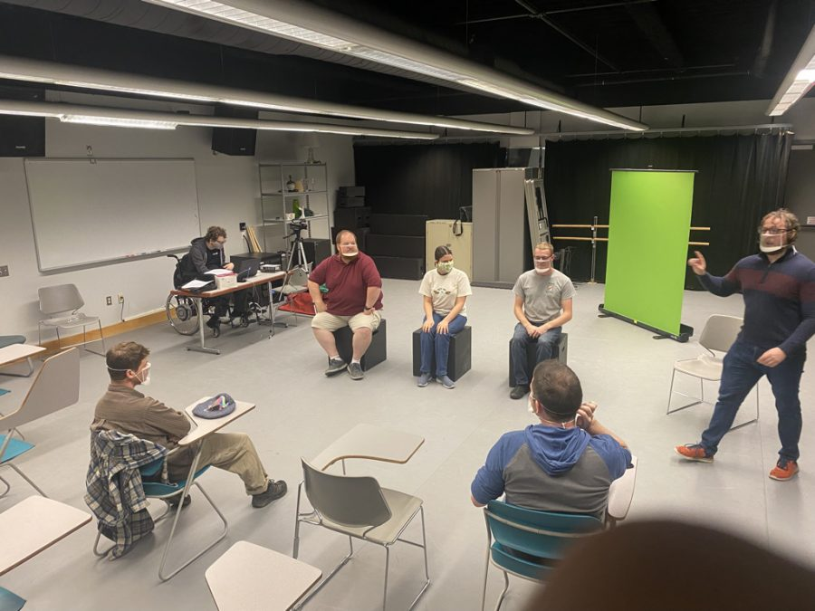 Actors from campus and the community meet twice a week to practice their improvisational skills.